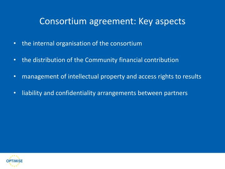 Consortium agreement: Key aspects