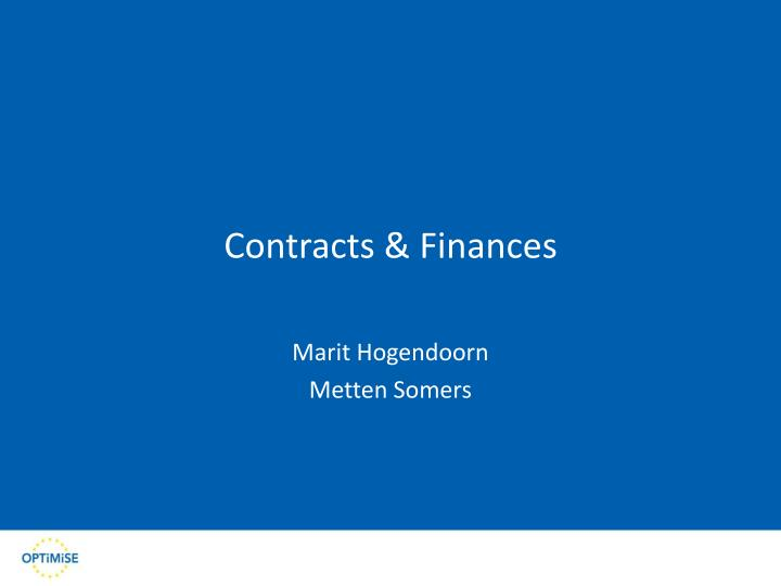 contracts finances