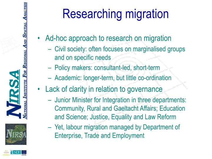 Researching migration