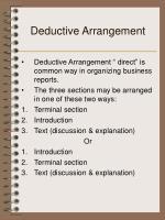 deductive arrangement