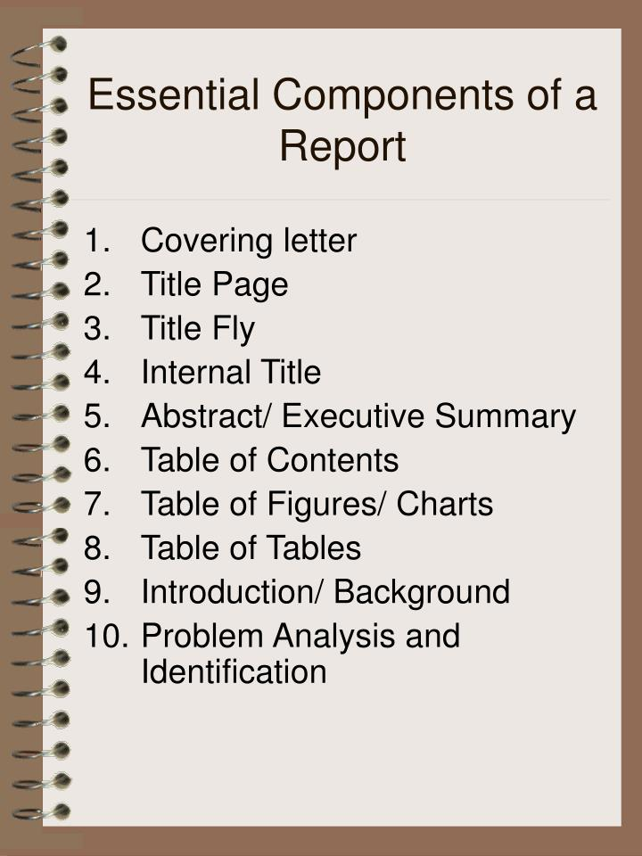 Essential Components of a Report