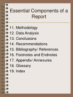 essential components of a report1