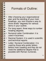 formats of outline