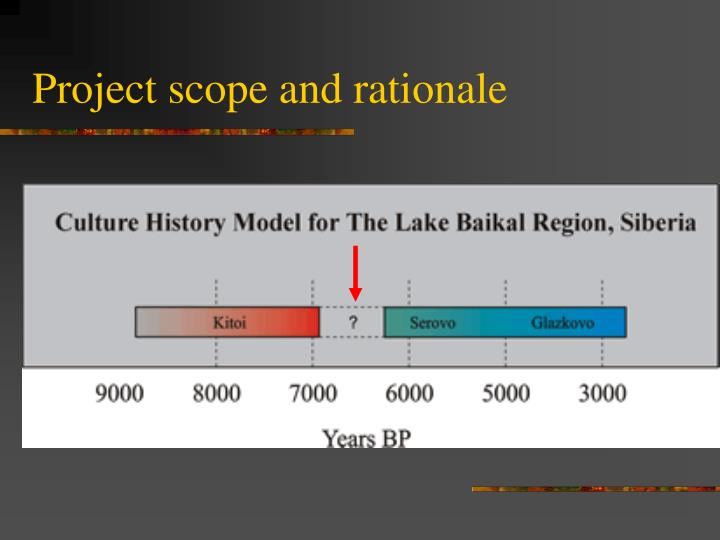 Project scope and rationale