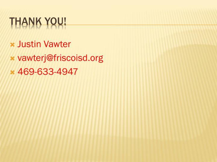 Justin Vawter