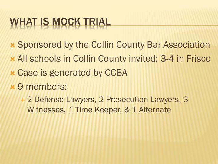 Sponsored by the Collin County Bar Association