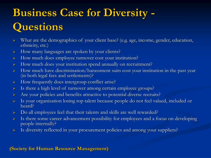 Business Case for Diversity -