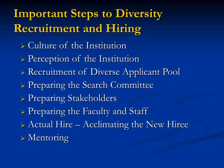 Important Steps to Diversity Recruitment and Hiring
