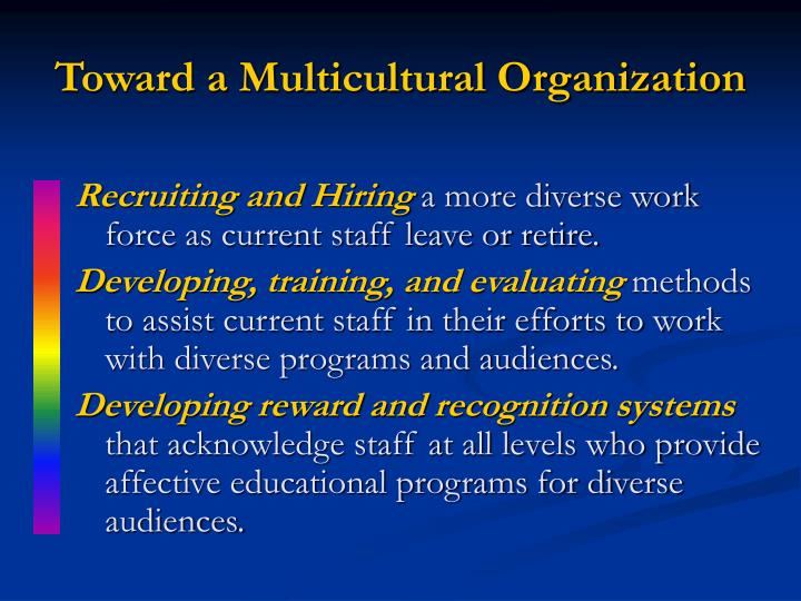 Toward a Multicultural Organization