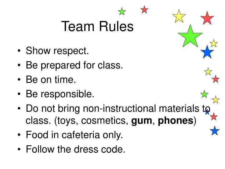 Team Rules