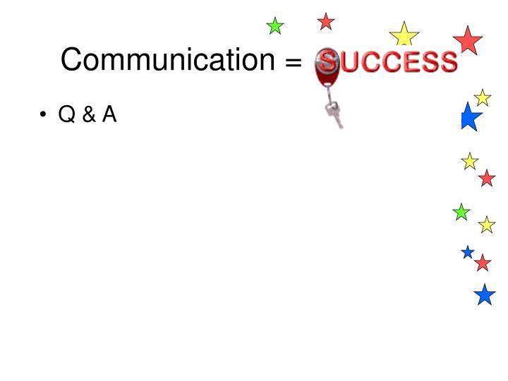 Communication =
