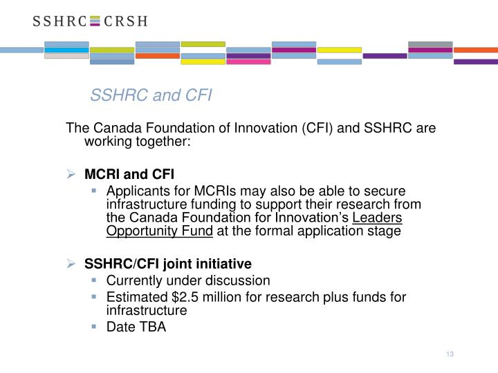 SSHRC and CFI
