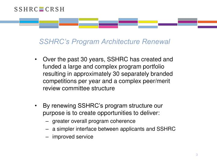Sshrc s program architecture renewal