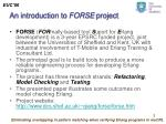an introduction to forse project