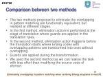 comparison between two methods