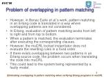 problem of overlapping in pattern matching