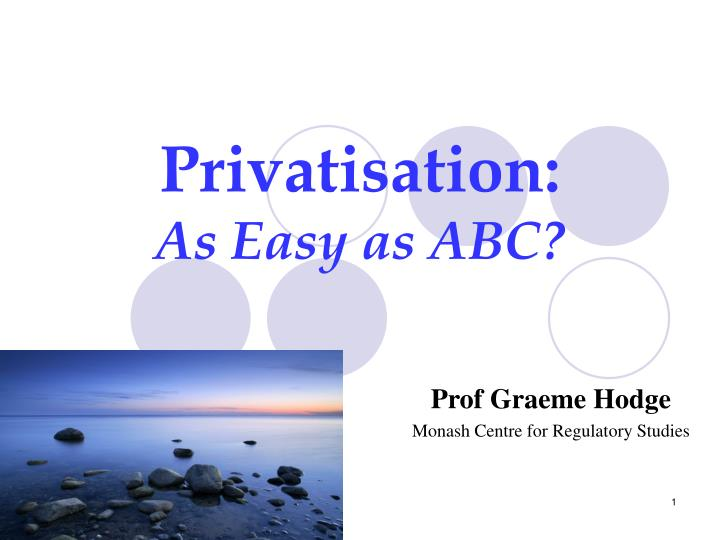 Privatisation: