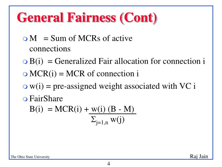 General Fairness (Cont)