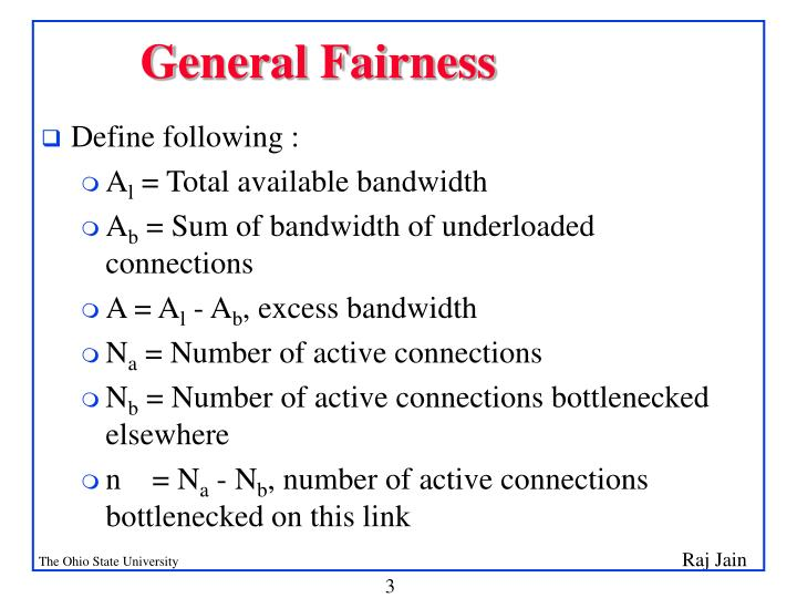 General fairness