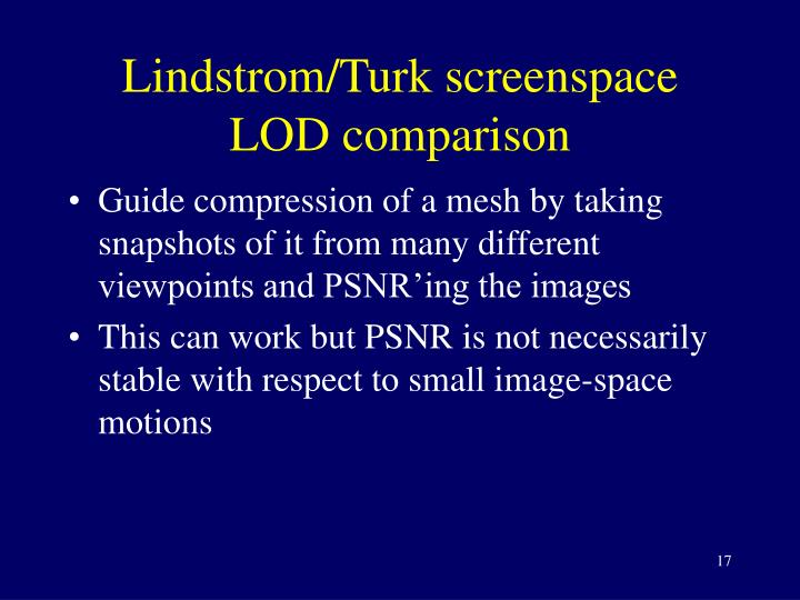 Lindstrom/Turk screenspace