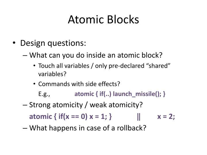 Atomic Blocks