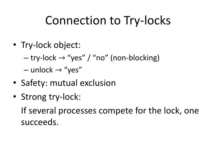 Connection to Try-locks