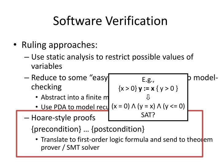 Software Verification