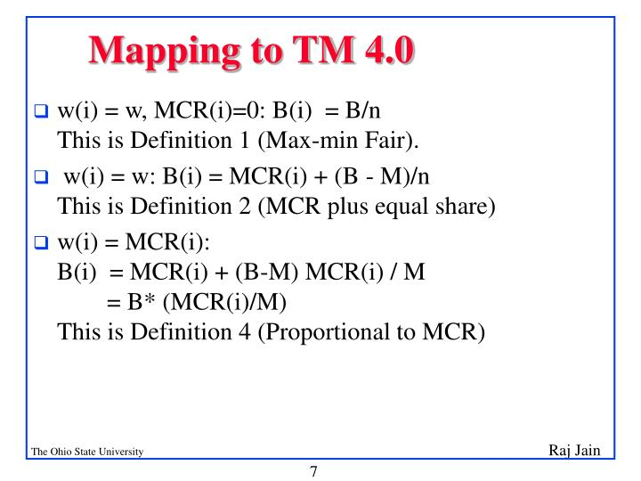 Mapping to TM 4.0