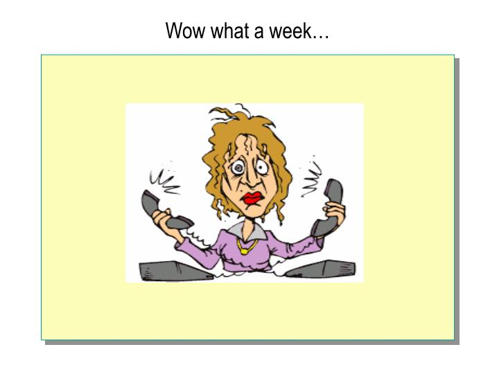 Wow what a week…