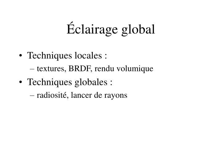 Éclairage global