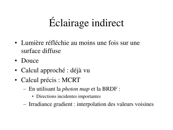 Éclairage indirect