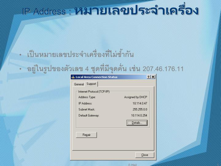 IP Address :
