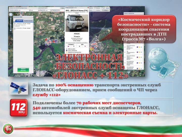«Космический коридор безопасности» - система координации спасения пострадавших в ДТП (трасса М7 «Волга»)