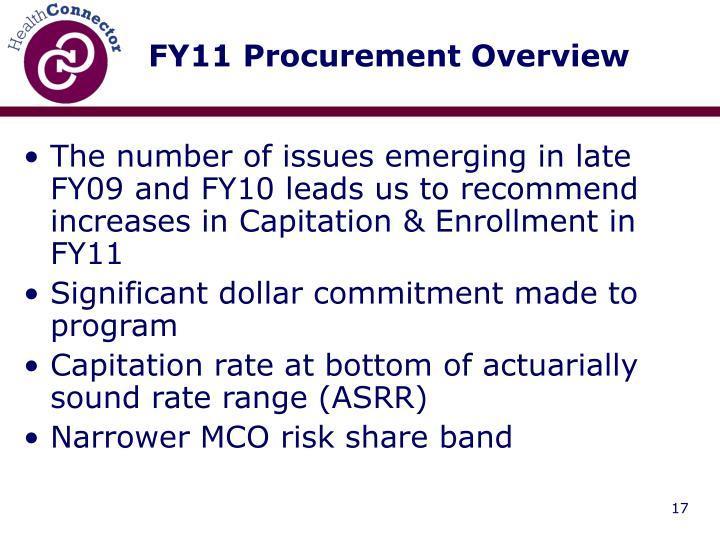 FY11 Procurement Overview