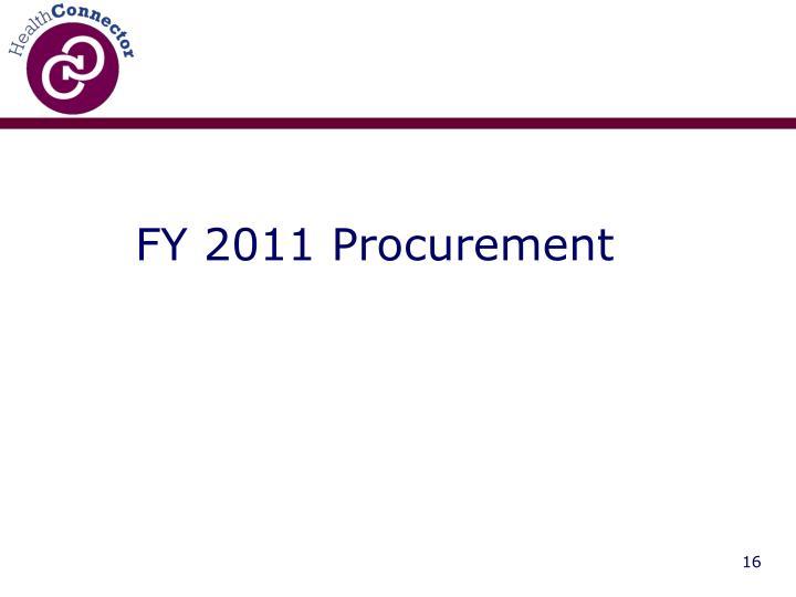 FY 2011 Procurement