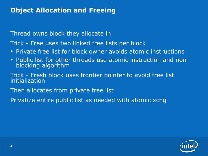 Object Allocation and Freeing