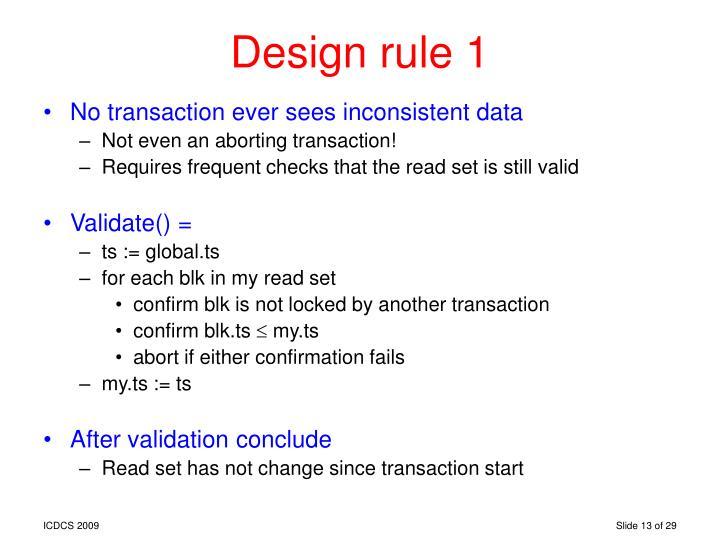 Design rule 1