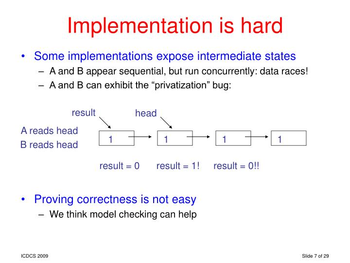 Implementation is hard