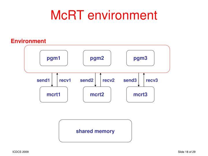 McRT environment
