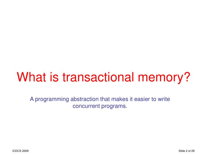 What is transactional memory?