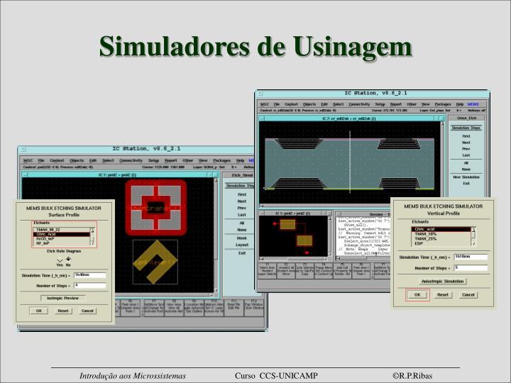 Simuladores de Usinagem