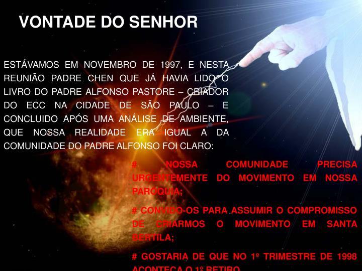 VONTADE DO SENHOR
