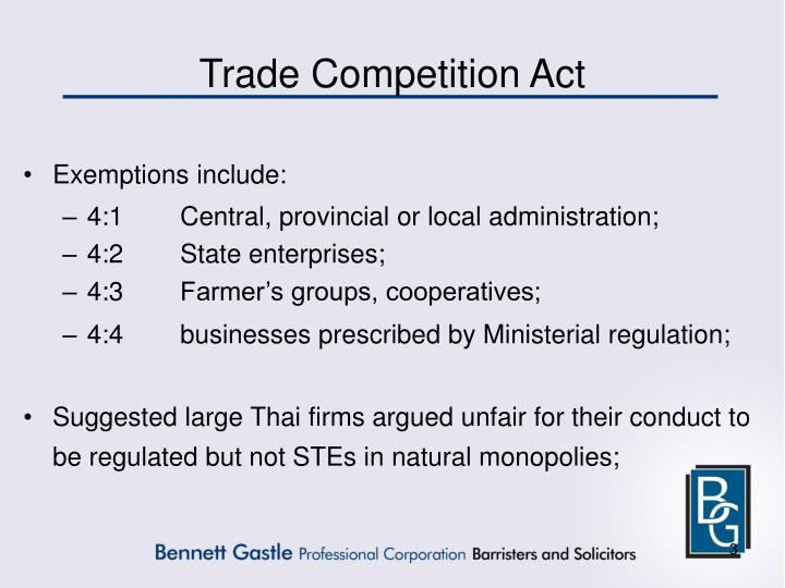 Trade Competition Act