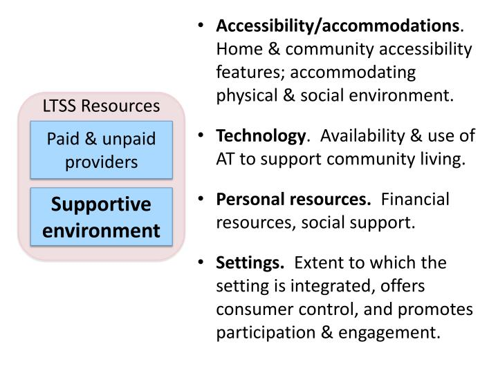 Accessibility/accommodations