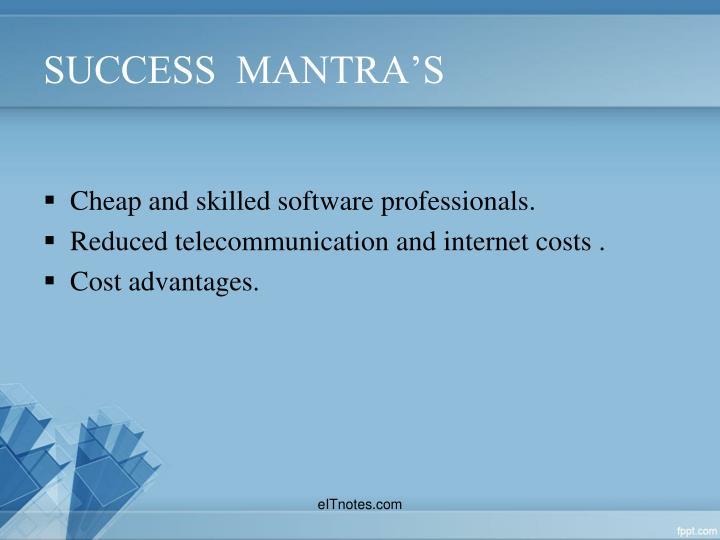 SUCCESS  MANTRA'S