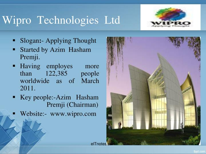 Wipro  Technologies  Ltd