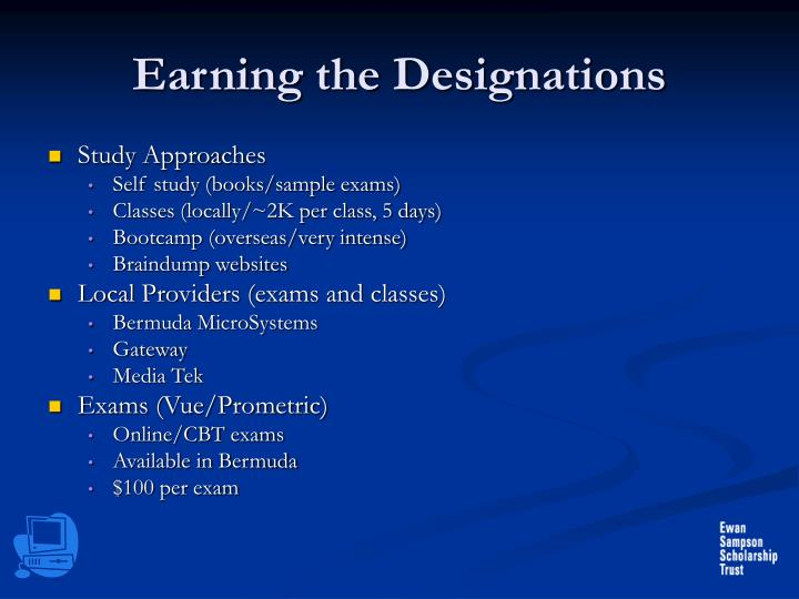 Earning the Designations