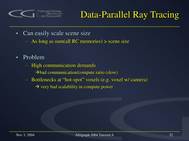Data-Parallel Ray Tracing