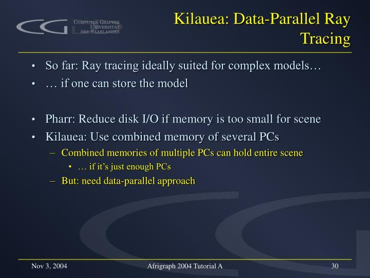 Kilauea: Data-Parallel Ray Tracing