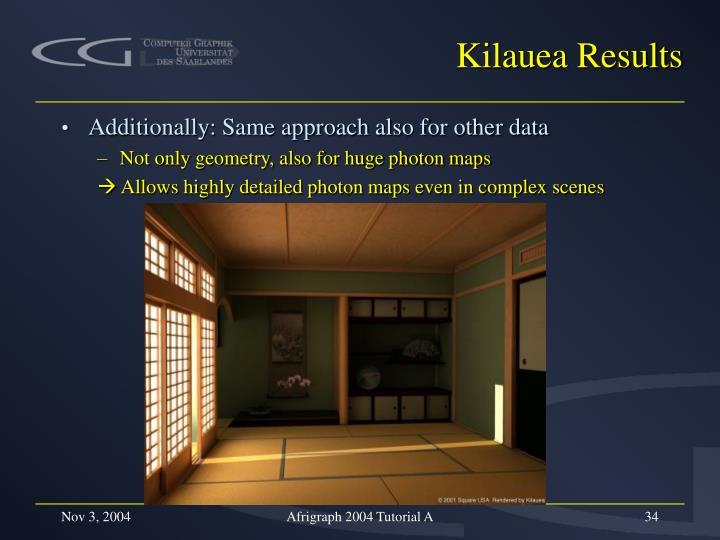 Kilauea Results